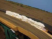 Gips ble lagt i en skråning ned mot hovedsporet