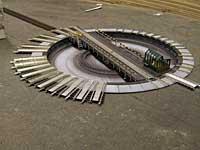 Tilførselsspor på svingskiven